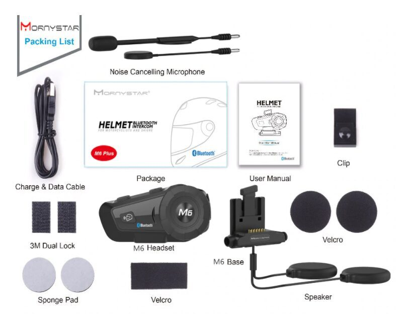 Intercomunicador Bluetooth M6 Plus