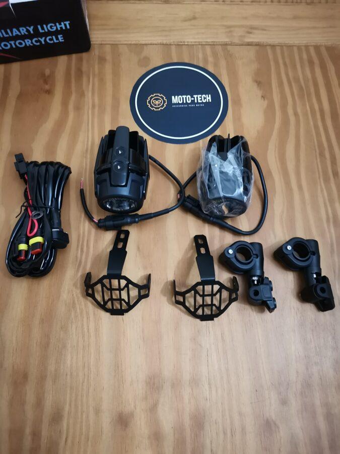 Faróis auxiliares led 40W com suporte + kit de instalação