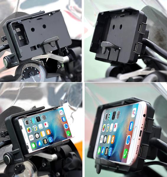 Suporte telemóvel para bmw lc r1200gs e r1250gs