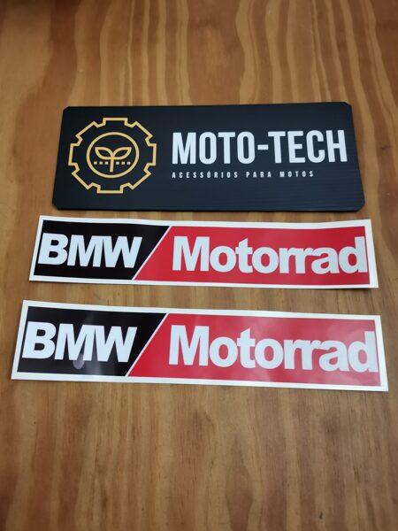 Autocolantes refletores malas alumínio BMW vermelho Motorrad