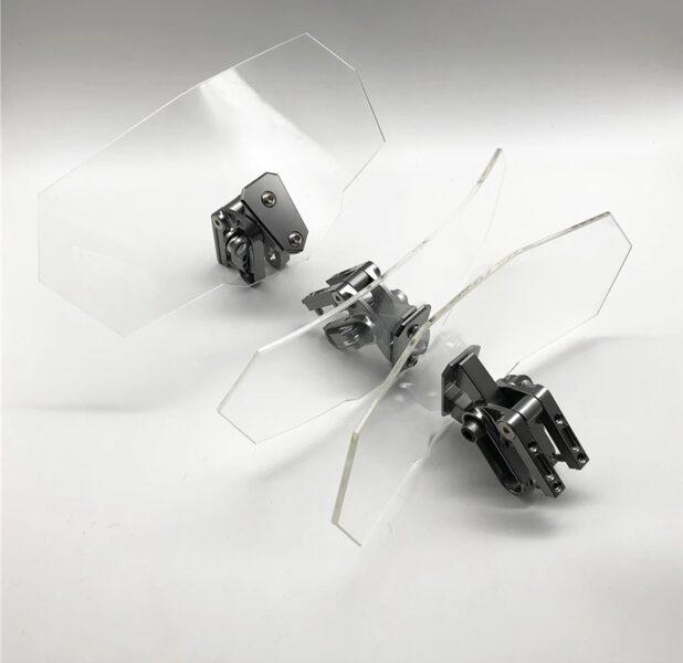 Defletor de vento universal apoio central