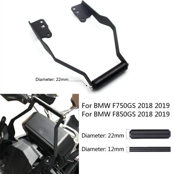 Barra de suporte gps/telemóvel bmw f750 e 850gs/a