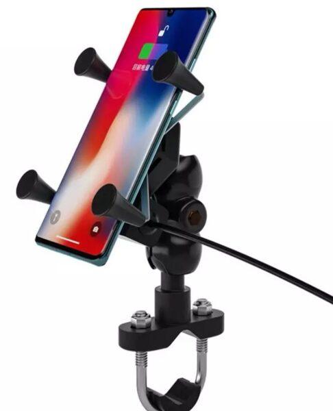 Suporte de telemóvel com Usb estilo RM