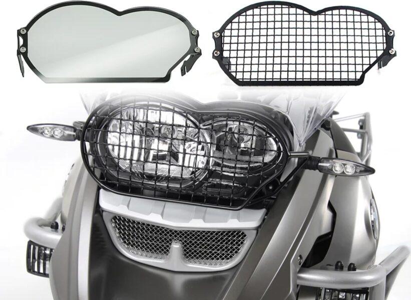 Proteção de farol em metal e acrílico bmw r1200 gs/a 2006-2012