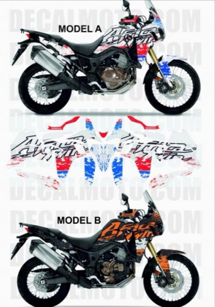 AFRICA TWIN CRF 1000 L SIGN OLDCOLOR FULL COVER