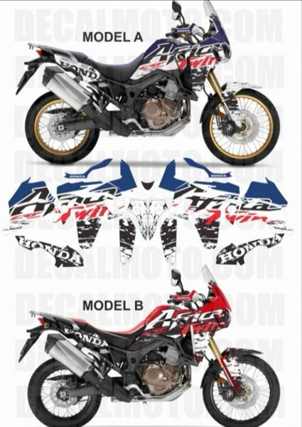 AFRICA TWIN CRF 1000 L SIGN TRICOLOR FULL COVER
